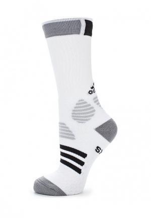 Носки adidas Performance. Цвет: белый