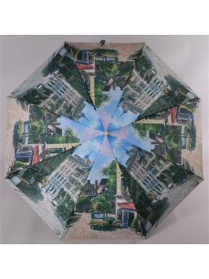 Зонт Trust. Цвет: зеленый, коричневый