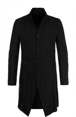 Удлиненный пиджак из смеси льна и вискозы Masnada. Цвет: черный