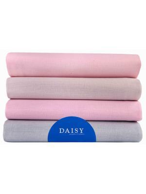 Пеленка, 4 шт. DAISY. Цвет: серый меланж, бежевый, бледно-розовый