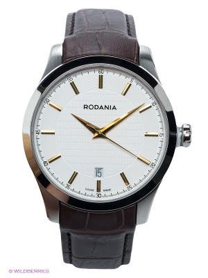 Часы RODANIA. Цвет: коричневый, серебристый