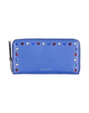 Бумажник MARC JACOBS. Цвет: ярко-синий