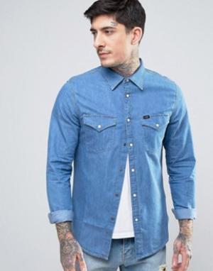 Lee Джинсовая рубашка в стиле вестерн. Цвет: синий