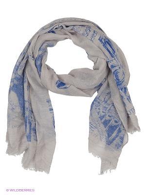 Платок Stilla s.r.l.. Цвет: серый, синий