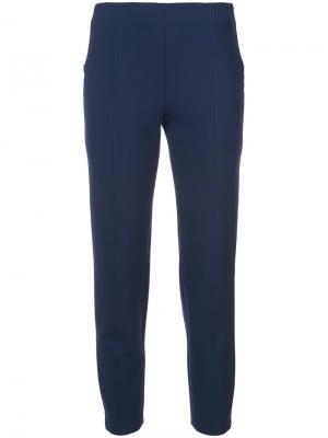 Зауженные брюки строгого кроя Dion Lee. Цвет: синий