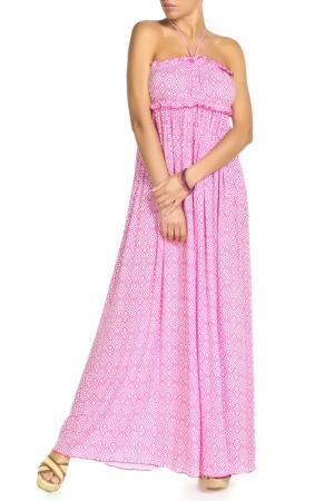 Платье длинное ВЕНДЕТТА. Цвет: мультицвет