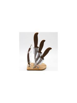 Ножи кухонные MAYER-BOCH. Цвет: коричневый, белый