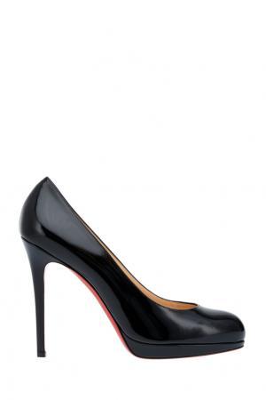 Туфли из лакированной кожи New Simple Pump 120 Christian Louboutin. Цвет: черный