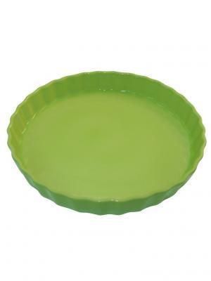 Блюдо для пирога 30х30х4,4 см Appolia. Цвет: салатовый