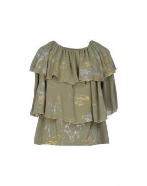 Блузка MONICA •LENDINEZ. Цвет: зеленый-милитари
