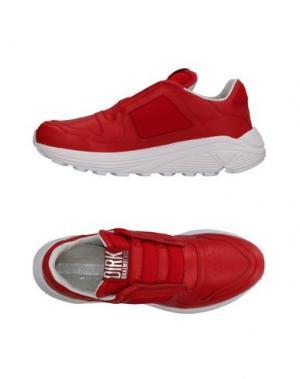 Низкие кеды и кроссовки DIRK BIKKEMBERGS. Цвет: красный