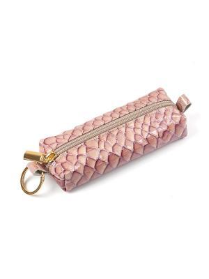 Ключница на молнии Zinger. Цвет: розовый