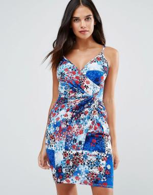 Wal G Облегающее платье с принтом. Цвет: мульти
