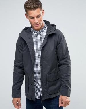 Jack Wills Темно-серая парусиновая куртка с капюшоном. Цвет: серый