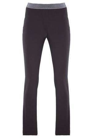 Черные брюки из хлопка Lorena Antoniazzi. Цвет: черный