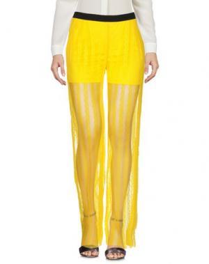 Повседневные брюки TROU AUX BICHES. Цвет: желтый
