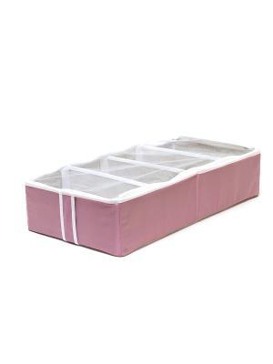 Органайзер для обуви на 4 ячейки Capri Homsu. Цвет: розовый