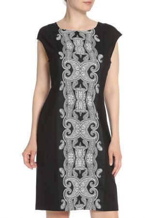 Платье без рукавов с узором Tuzzi. Цвет: черный