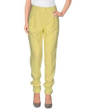Повседневные брюки SOUVENIR. Цвет: желтый