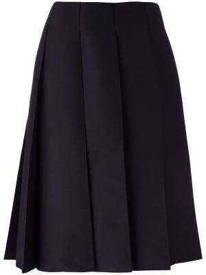 Плиссированная юбка Nina Ricci. Цвет: синий