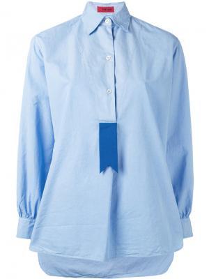 Рубашка с контрастной вставкой The Gigi. Цвет: синий