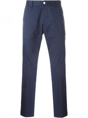 Классические брюки-чинос Hydrogen. Цвет: синий