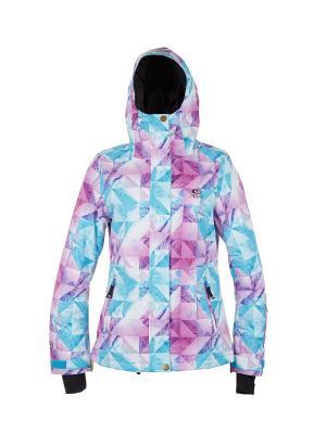 Куртка  BETTY PRINTED JKT Rip Curl. Цвет: морская волна, лиловый, бледно-розовый