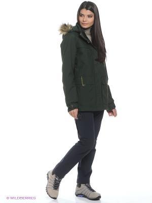 Куртка CORNER BROOK PARKA WOMEN Jack Wolfskin. Цвет: зеленый