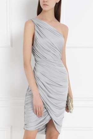 Однотонное платье J. Mendel. Цвет: серый