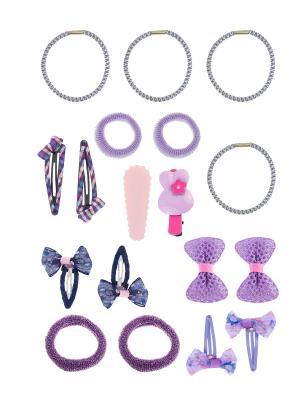 Набор аксессуаров детский LITTLE MANIA. Цвет: сиреневый, розовый, синий