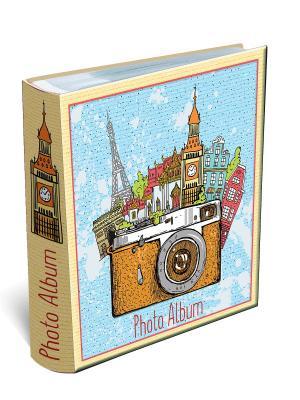 Фотоальбом ФОТОТУР на 200 фотографий  (22*22см, листы c кармашками для фото, с полями записей) Magic Home. Цвет: лиловый