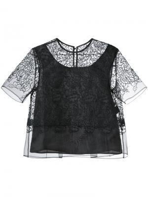 Layered sheer blouse Taro Horiuchi. Цвет: чёрный