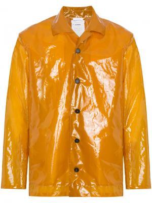 Плащ с пластиковым эффектом Jil Sander. Цвет: жёлтый и оранжевый