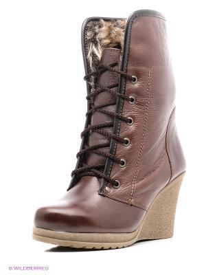 Ботинки ЭГО. Цвет: темно-коричневый