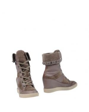 Полусапоги и высокие ботинки JANET SPORT. Цвет: голубиный серый