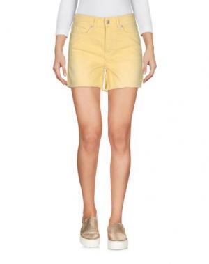 Джинсовые шорты ROŸ ROGER'S. Цвет: желтый