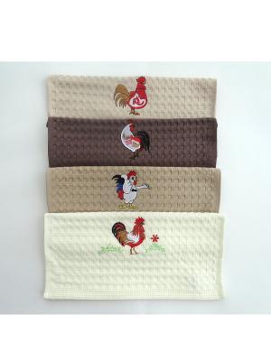 Полотенца кухонные A and C Collection. Цвет: бежевый, кремовый, коричневый, светло-бежевый