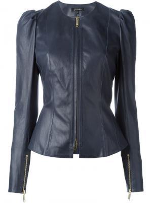 Приталенная куртка на молнии Jitrois. Цвет: синий