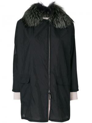 Пальто с капюшоном Cividini. Цвет: синий