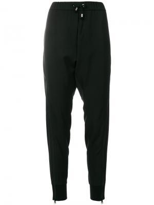 Спортивные брюки с манжетами на молнии Wunderkind. Цвет: чёрный