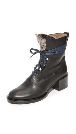Сапоги Mack с короткой шерстью Coclico Shoes. Цвет: черная пагода