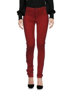 Повседневные брюки GENETIC DENIM. Цвет: кирпично-красный