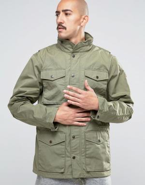 Fjallraven Зеленая куртка Raven. Цвет: зеленый