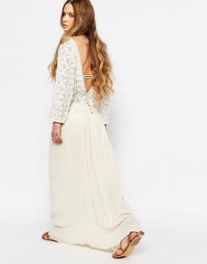 Jens Pirate Booty Платье макси с открытой спиной Ivy Mountain. Цвет: кремовый