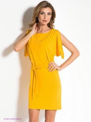 Платье MONDIGO. Цвет: желтый