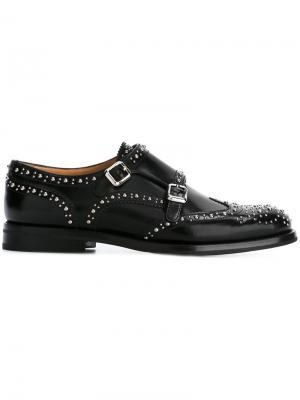Туфли монки Lana с ремешками Churchs Church's. Цвет: чёрный