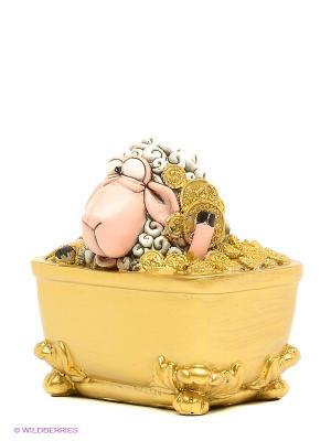 Статуэтка Овца Купание в роскоши The Comical World of Stratford. Цвет: золотистый, белый, розовый