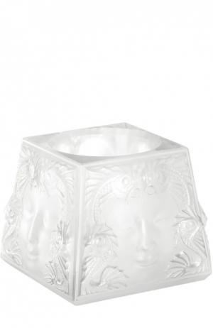 Подсвечник Masque De Femme Lalique. Цвет: бесцветный