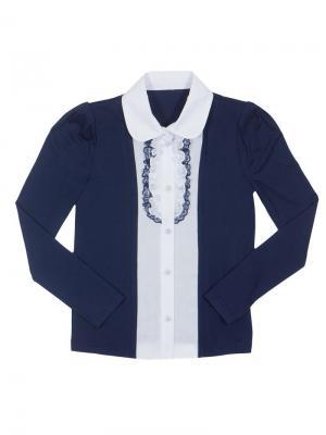 Блузка Stillini. Цвет: синий, белый