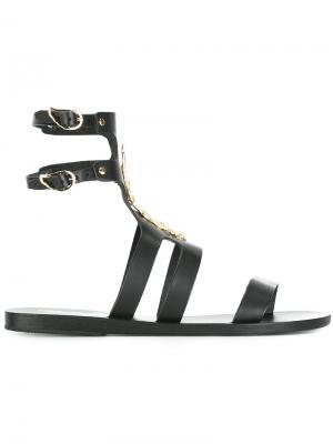 Сандалии Agapi Snakes Ancient Greek Sandals. Цвет: чёрный